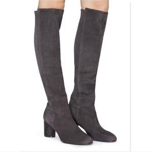 Unworn Stuart Weitzman Suede Block Heel Boots 7